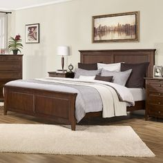 South Shore Basics Full Platform Bed With Molding  Catalog