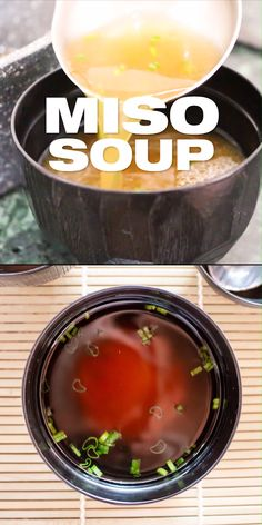 Basic Miso Soup Recipe - A classic simple recipe to make Japanese miso soup from scratch at home. This is a plant based vegan miso soup version prepared with shiitake mushroom. It's also low calorie a Healthy Snacks, Healthy Soup, Healthy Recipes, Vegan Recipes Asian, Japanese Vegetarian Recipes, Simple Recipes, Vegan Miso Soup, Miso Soup Recipes, Korean Soup Recipes