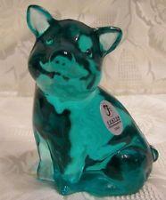"""Fenton Glass 2010 Robin's Egg Blue 4"""" Pig"""