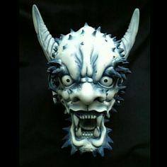 鬼頭。昔の作品ですけど(^_^;) The head of the ogre. #鬼 #鬼の頭 #ogre #Sculpture #molding #art #sculptor #Japan #handmade