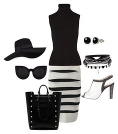 """""""Untitled #54"""" by renadagreer on Polyvore featuring Hervé Léger, L'Agence, Michael Kors, Mulberry, Belk & Co. and San Diego Hat Co."""