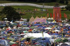Glastonbury 2013  Tent city: Thousands of revellers wasted no time in putting up their tents - and even more people will arrive tomorrow