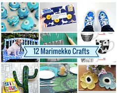 If you love the nordic prints of Marimekko you will love these crafts inspired by Marimekko. Claire from Pillar Box Blue rounded up 12 different projects and now I want to make them all. Book Crafts, Fun Crafts, Crafts For Kids, Diy Paper, Paper Crafts, Sand Art, Diy Craft Projects, Craft Ideas, Marimekko