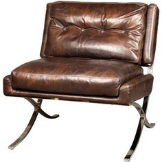 Capetown Occasional Chair, Antique Leather, Brown