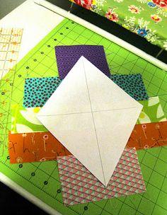 Diamond Scrap Quilt Tutorial
