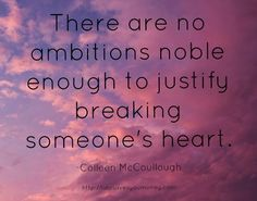 Great read! #TheThornBirds #quote