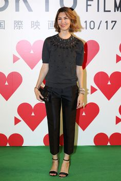 Sofia Coppola at Tokyo International Film Festival - Love the short sleeved sweater and trousers