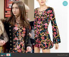 Riley's floral romper on Girl Meets World.  Outfit Details: https://wornontv.net/58280/ #GirlMeetsWorld  Buy it here: http://wornon.tv/36614