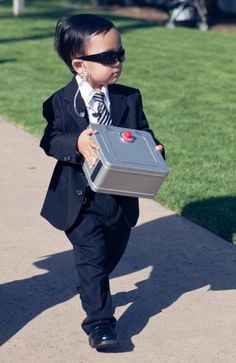 """I was looking through a friends wedding pictures, and this little guy was their ring bearer. Coolest idea ever."" on Imgur via reddit"