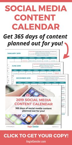 Looking for a way to schedule your social media content in Save hours of time and stress with the 2020 Social Media Content Calendar. Learn more now! Marketing Digital, Content Marketing, Internet Marketing, Online Marketing, Social Media Marketing, Affiliate Marketing, Social Media Content, Social Media Tips, Entrepreneur