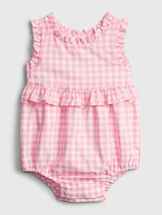 Toddler Girl Outfits, Baby Girl Dresses, Kids Outfits, Baby Girls, Teddy Bear Clothes, Rompers For Kids, Gingham Check, Baby Girl Fashion, Maternity Fashion