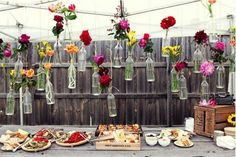fun decoration for backyard wedding