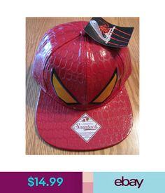 e464e686b63 Hats The Amazing Spider-Man Spiderman Snapback Hat Marvel Comics Nwt - Red  Eyes