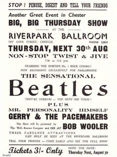 twist and jive Beatles Poster, The Beatles, Gig Poster, Pop Posters, Music Posters, Vintage Concert Posters, Vintage Posters, John Lennon Paul Mccartney, Music Genius