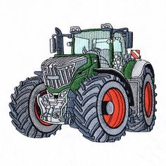 Quality, innovative machine embroidery designs suitable for all ages and occasions. Machine Embroidery Applique, Free Machine Embroidery Designs, Claas Traktor, Art Deco Borders, Cute Cars, Machine Design, Cross Stitch, Diy, Farmers