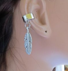 Ear Cuff Wrap Feather Charm by RazzleDazzleMe