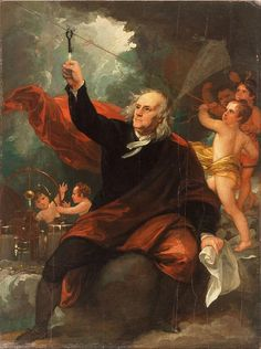 Benjamin Franklin Flies Kite During Thunderstorm on 10 June 1752