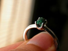 RoughOrganic Raw Green Emerald with Sterling by PeggysPassions, $25.00