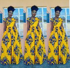 Très belle robe de pagne africain Maxi par ShopCocoAngellique
