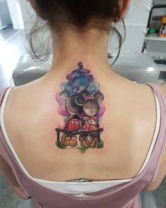 Watercolor Disney tattoo