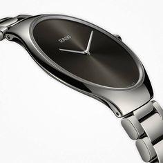 Rado True Thinline in black high-tech ceramic. 2016 introduction. R27741182 #rado #watches #HeinrichsJewellery