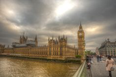 Westminster Palace, - Weather is changing over Westminster Palace.