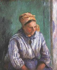 Washerwoman Study (also known as La Mere Larcheveque), 1880 - Camille Pissarro - WikiArt.org