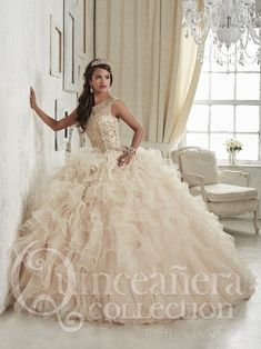 2016 Champagne Quinceanera Dresses Ball Gowns Sweetheart Beaded Crystal Embroidery Sweet 16 Dress Vestidos De 15 Anos QD13
