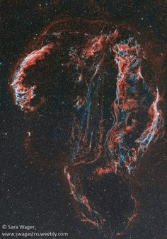 The complete Veil complex supernova remnant in the constellation of Cygnus.