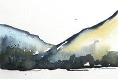 River Gorge - Original Watercolor Painting