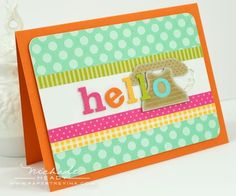 Hello Alphabet Card by Nichole Heady for Papertrey Ink (May 2012)
