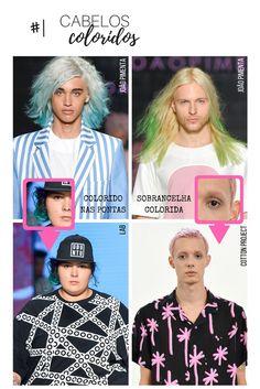 tendências das passarelas cabelo colorido