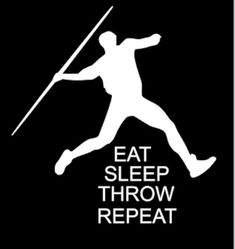Track Athlete Decal, Javelin Thrower Decal  6x6 High Quality Vinyl designs. All…