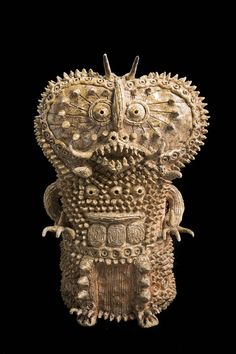 Souzou: Outsider Art from Japan. Untitled by Shinichi Sawada 2006-10, clay, natural glaze; private collection. Shinichi Sawada's spiked ceramic works depict a world populated by fantastical sea-monsters and mythical demons.