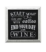 Fetco® Start With Coffee End With Wine Wall Decor