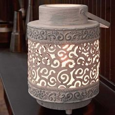 Eglo Lighting Vintage Collection / Talbot / Grey Moroccan Lantern Effect Table Lamp Fan Store, Lighting Store, Cabinet Colors, Lighting Solutions, Vintage Lighting, Beautiful Homes, Lanterns, Table Lamp, Vase