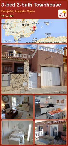3-bed 2-bath Townhouse in Benijofar, Alicante, Spain ►€124,950 #PropertyForSaleInSpain