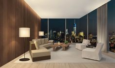 Image 8 of 9 from gallery of Herzog & de Meuron Designs Luxury Tower for Manhattan. Courtesy of Ian Schrager Company Ian Schrager, Home Automation, Condominium, Window Treatments, The Hamptons, Manhattan, Living Room Designs, Tower, The Unit
