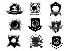 Golf Sports Emblems and Symbols Set -> Für Golf SALE und Golf Bestseller klicken!