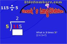 Long division with sound effects