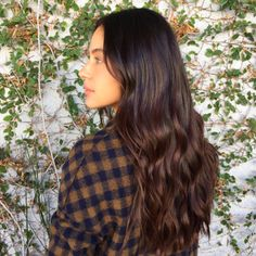 """2017's Biggest Hair Colour Trend: Hygge #refinery29  http://www.refinery29.uk/new-hair-colour-trends#slide-1  """"Aubrown""""A mix between auburn and brown, this hue is rich, luxe, and unapologetic glossy. Think of it as a deep and inky take on bronze — with a kiss from auburn. Okay, that was cheesy, but this colour isn't. This beauty was done by Chris Greene, a colourist at <a href=""""https://www.in..."""