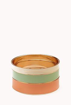 Color Cascade Lacquered Bangle Set   FOREVER21 - 1000090694