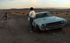 VANISHING POINT (Richard C Sarafian 1971) Barry Newman. Car Chase, naked bike…