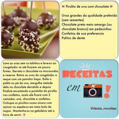 Pirulito de uva com chocolate