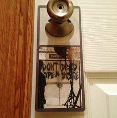 The Walking Dead. Don't Open Dead Inside. Zombie Sign, $3.00