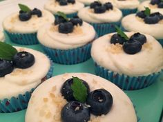 Blueberry and lime popping candy cupcakes!