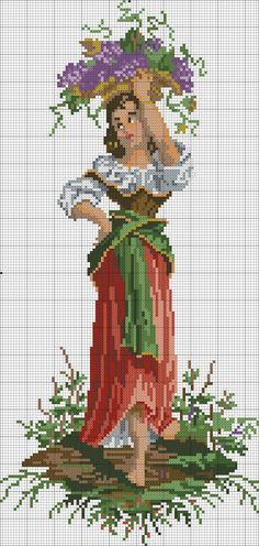 This photo is undeniably an exceptional style concept. Disney Cross Stitch Patterns, Cross Stitch Charts, Cross Stitch Designs, Cross Stitching, Cross Stitch Embroidery, Small Cross Stitch, Vintage Cross Stitches, Needlepoint, Needlework