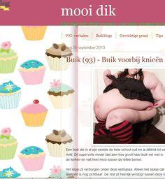 """Een ander perspectief - Mooidik.blogspot.nl. - Een blog over dikke vrouwen, voor dikke vrouwen en hun bewonderaars. """"Vergeet de prachtige plooi bij haar achterste niet. Die daagt bijna uit om met je vingers tussen te gaan en deze vetmassa heerlijk in beweging te brengen""""."""