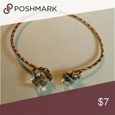 Open Bracelet NWT! Gold open bangle with clear gems and bow bracelet.  *Fashion Jewelry -Bundle to save on shipping cost Jewelry Bracelets