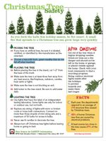 Facts from the National Fire Protection Association (NFPA) about fires started by Christmas tree and holiday lights...